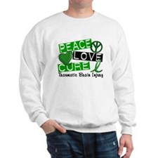 Peace Love Cure 1 TBI Sweatshirt