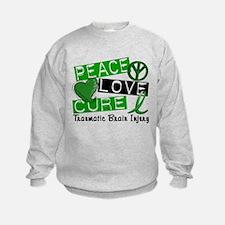 Peace Love Cure 1 TBI Sweatshirt