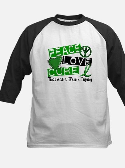 Peace Love Cure 1 TBI Kids Baseball Jersey