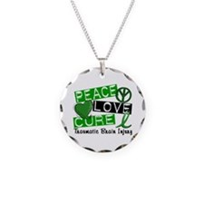 Peace Love Cure 1 TBI Necklace