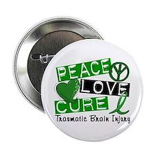 """Peace Love Cure 1 TBI 2.25"""" Button"""