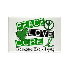 Peace Love Cure 1 TBI Rectangle Magnet