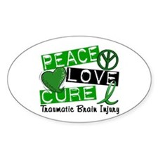 Peace Love Cure 1 TBI Decal