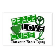Peace Love Cure 1 TBI Postcards (Package of 8)