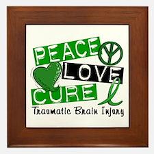 Peace Love Cure 1 TBI Framed Tile