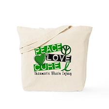 Peace Love Cure 1 TBI Tote Bag