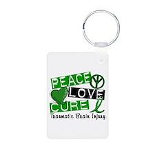 Peace Love Cure 1 TBI Keychains