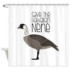 Save the Hawaiian NENE Shower Curtain