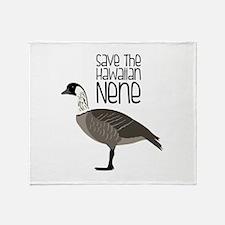 Save the Hawaiian NENE Throw Blanket