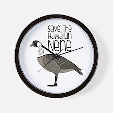 Save the Hawaiian NENE Wall Clock