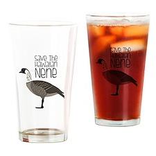 Save the Hawaiian NENE Drinking Glass