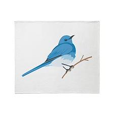 Mountain Bluebird Throw Blanket