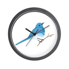 Mountain Bluebird Wall Clock
