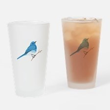 Mountain Bluebird Drinking Glass
