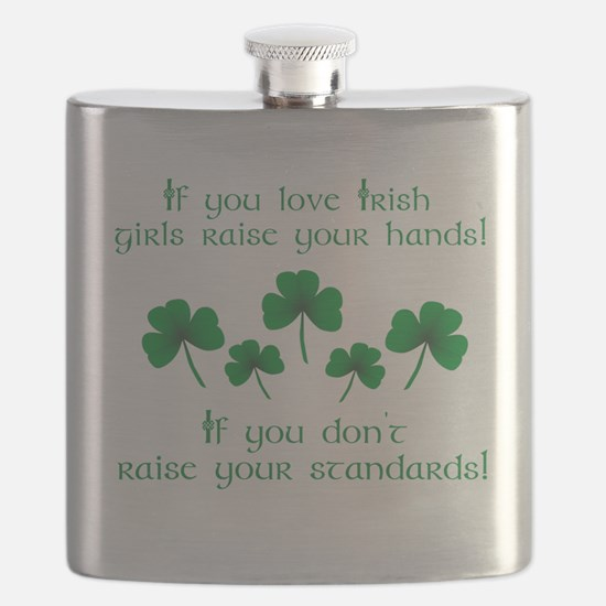 Raise Your Hands for Irish Girls Flask