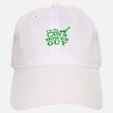 Im the LAWN MOWER GUY with green grass Baseball Baseball Cap