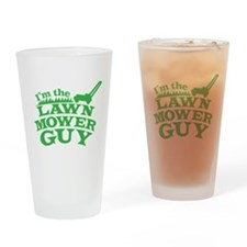 Im the LAWN MOWER GUY with green grass Drinking Gl