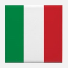 Italian Flag Tile Coaster