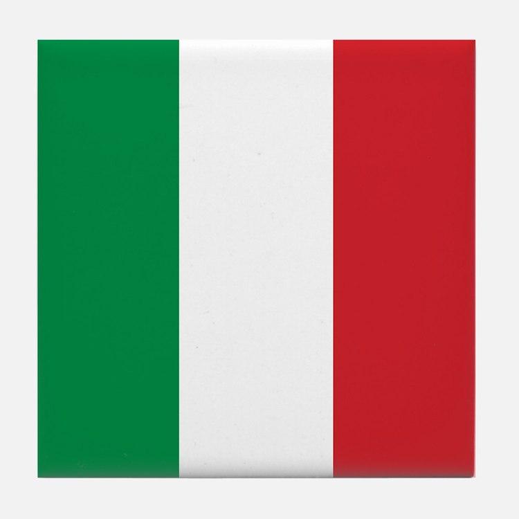 Italian Flag Tile Coaster