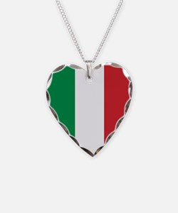 Italian Flag Necklace