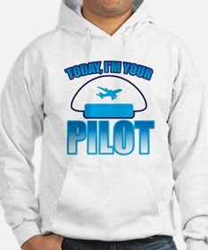 Im YOUR PILOT with Captain hat and jet plane Jumpe