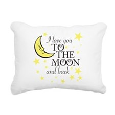I love you to the moon and back Rectangular Canvas