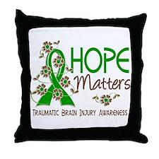 Hope Matters 3 TBI Throw Pillow