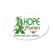 Hope Matters 3 TBI Oval Car Magnet