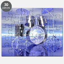 Drum Set On Blue Lake Puzzle