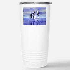 Drum Set On Blue Lake Stainless Steel Travel Mug