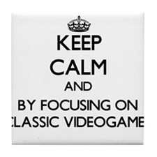 Keep calm by focusing on Classic Videogames Tile C