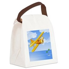 Plane Over Sea Canvas Lunch Bag
