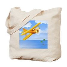 Plane Over Sea Tote Bag