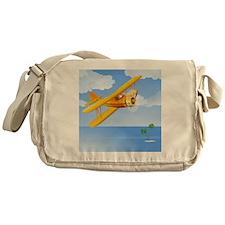 Plane Over Sea Messenger Bag
