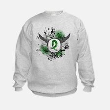 Grunge Ribbon and Wings TBI Sweatshirt