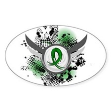 Grunge Ribbon and Wings TBI Decal