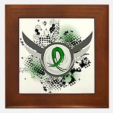 Grunge Ribbon and Wings TBI Framed Tile