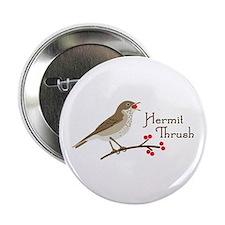 """Hermit Thrush 2.25"""" Button"""
