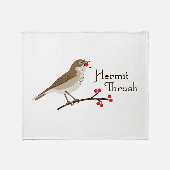 Hermit Thrush Throw Blanket