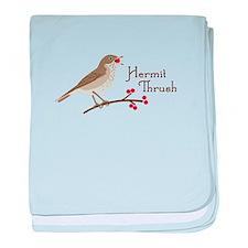 Hermit Thrush baby blanket