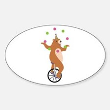 Juggling Bear Decal