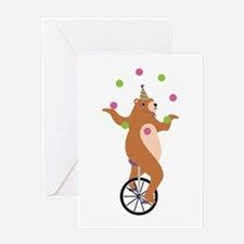Juggling Bear Greeting Cards