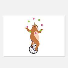 Juggling Bear Postcards (Package of 8)