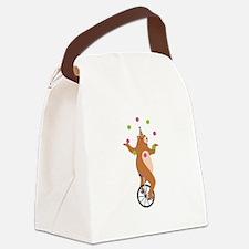 Juggling Bear Canvas Lunch Bag