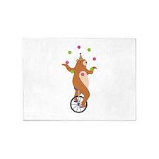 Juggling Bear 5'x7'Area Rug
