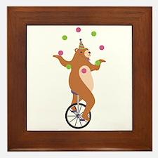 Juggling Bear Framed Tile