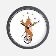 Juggling Bear Wall Clock