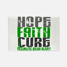 Hope Faith Cure TBI Rectangle Magnet