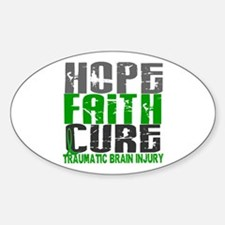 Hope Faith Cure TBI Decal