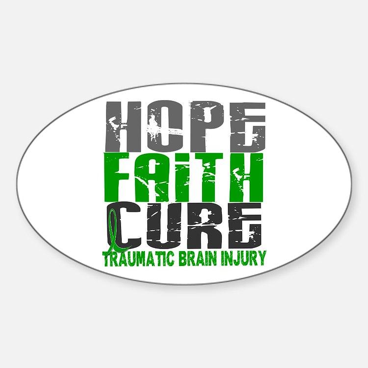 Hope Faith Cure TBI Decal